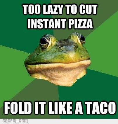 afoul_Bachelor_Frog_eating_pizza_gag