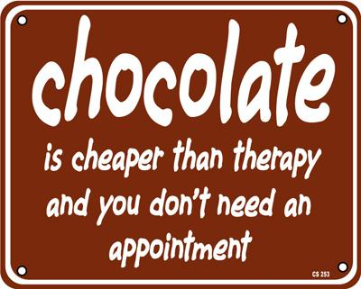 chocolate-is-cheaper-than-therapy...aluminium-funny-wall-sign-ss--8988-p