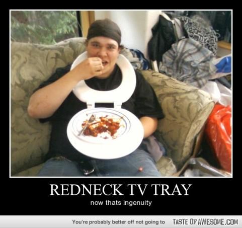 redneckTVtray